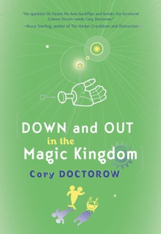 Large book cover: Down and Out in the Magic Kingdom