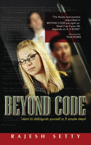 Large book cover: Beyond Code: Learn to Distinguish Yourself in 9 Simple Steps