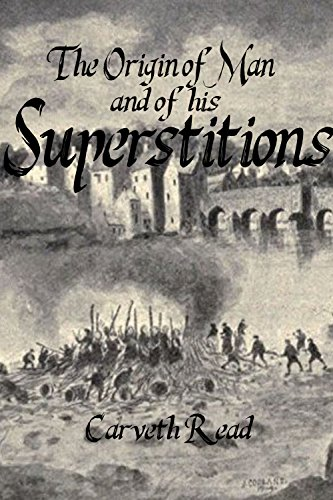 Large book cover: The Origin of Man and of his Superstitions