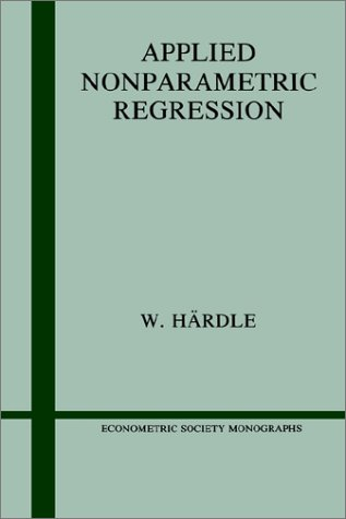 Large book cover: Applied Nonparametric Regression