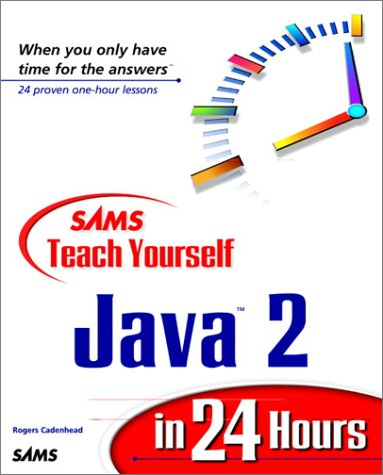 Large book cover: Sams Teach Yourself Java 2 in 24 Hours