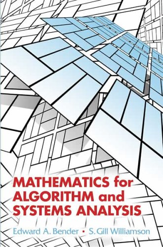 Large book cover: Mathematics for Algorithm and Systems Analysis