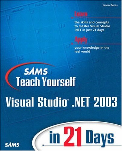 Large book cover: Sams Teach Yourself Visual Studio .NET 2003 in 21 Days