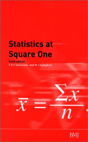 Large book cover: Statistics at Square One