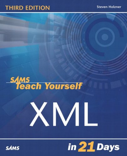 Large book cover: Sams Teach Yourself XML in 21 Days
