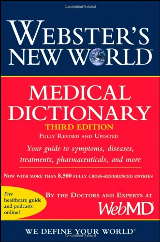 Large book cover: Webster's New World Medical Dictionary