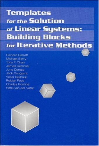 Large book cover: Templates for the Solution of Linear Systems