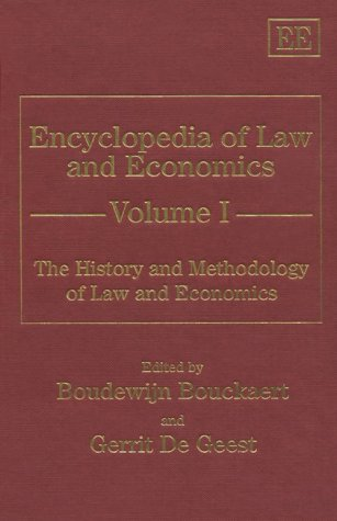 Large book cover: Encyclopedia of Law and Economics