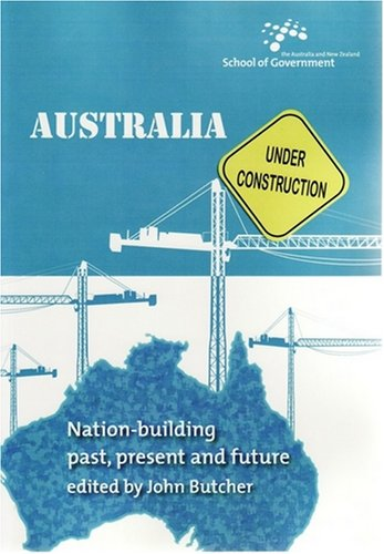 Large book cover: Australia Under Construction