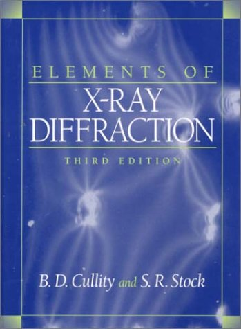 Large book cover: Elements of X-Ray Diffraction