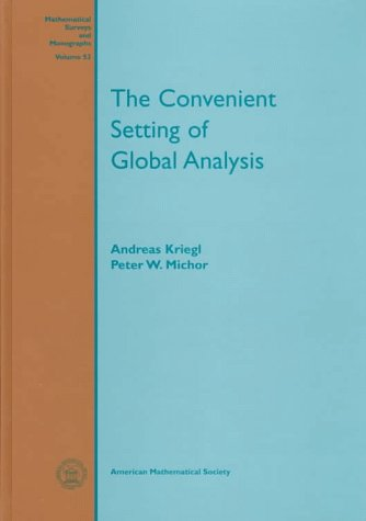 Large book cover: The Convenient Setting of Global Analysis