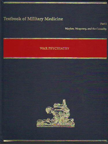 Large book cover: War Psychiatry (Textbooks of Military Medicine)