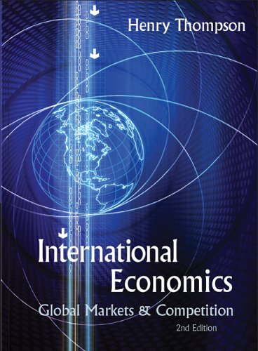 Large book cover: International Economics: Global Markets and Competition