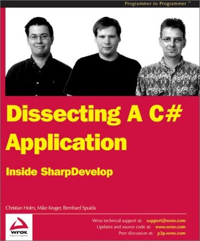 Large book cover: Dissecting a C# Application: Inside SharpDevelop