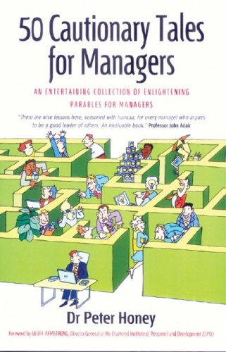 Large book cover: 50 Cautionary Tales for Managers