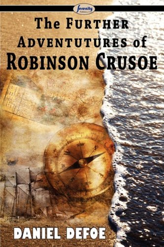 Large book cover: The Further Adventures of Robinson Crusoe