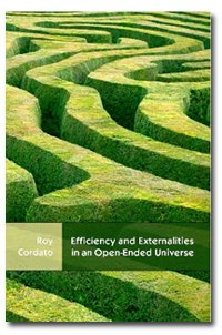 Large book cover: Efficiency and Externalities in an Open-Ended Universe