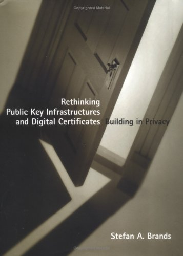 Large book cover: Rethinking Public Key Infrastructures and Digital Certificates