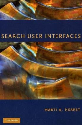 Large book cover: Search User Interfaces