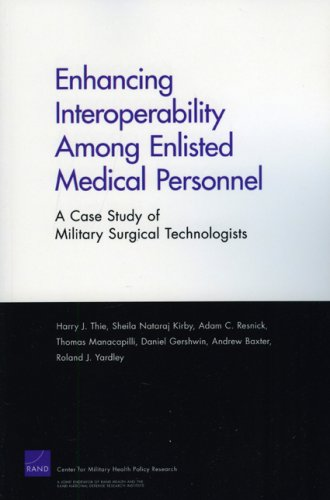 Large book cover: Enhancing Interoperabillity Among Enlisted Medical Personnel