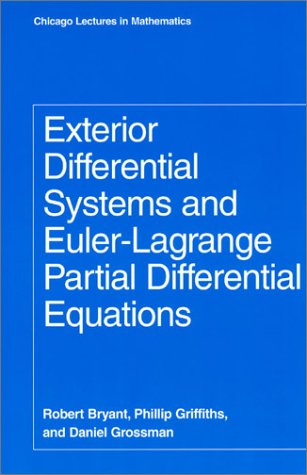 Large book cover: Exterior Differential Systems and Euler-Lagrange Partial Differential Equations