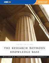 Large book cover: The Research Methods Knowledge Base
