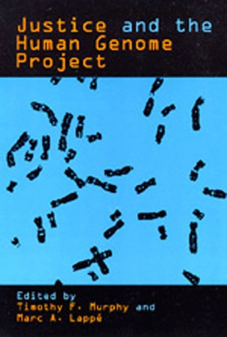 Large book cover: Justice and the Human Genome Project
