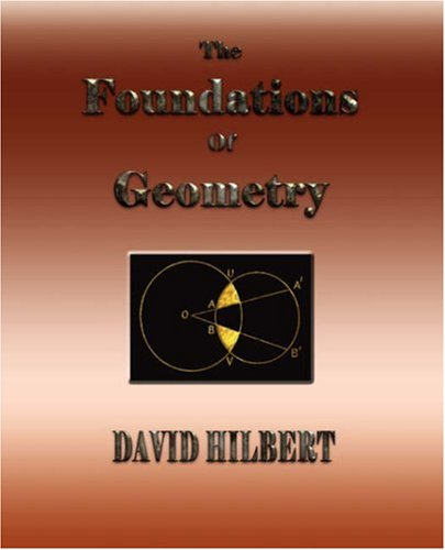 Large book cover: The Foundations of Geometry