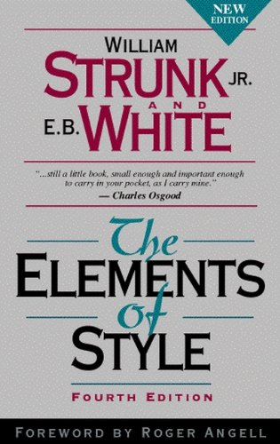 Large book cover: The Elements of Style