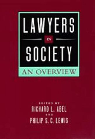 Large book cover: Lawyers in Society: An Overview