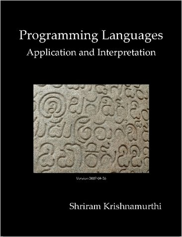 Large book cover: Programming Languages: Application and Interpretation