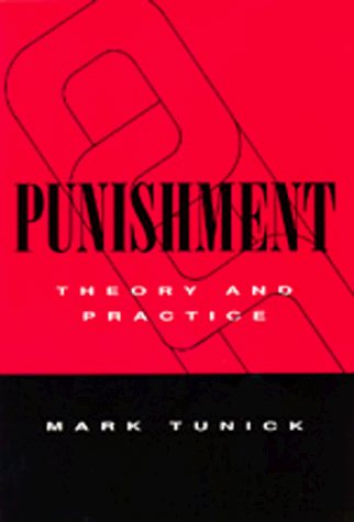 Large book cover: Punishment: Theory and Practice