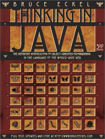 Large book cover: Thinking in Java