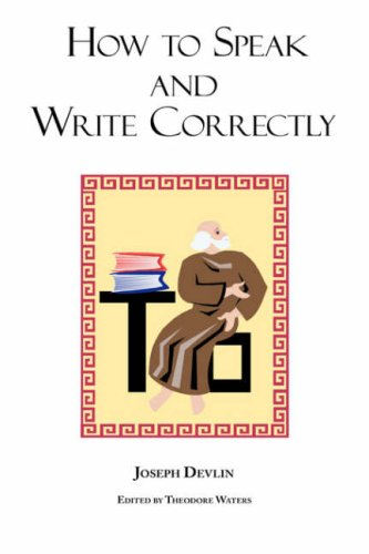 Large book cover: How to Speak and Write Correctly