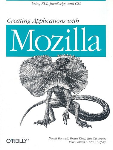 Large book cover: Creating Applications with Mozilla