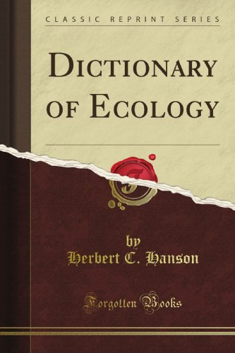 Large book cover: Dictionary of Ecology
