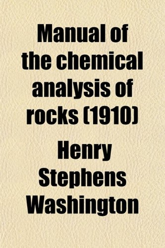 Large book cover: Manual of the Chemical Analysis of Rocks
