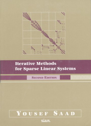 Large book cover: Iterative Methods for Sparse Linear Systems