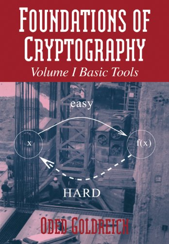 Large book cover: Foundations of Cryptography
