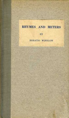 Large book cover: Rhymes and Meters: a practical manual for versifiers