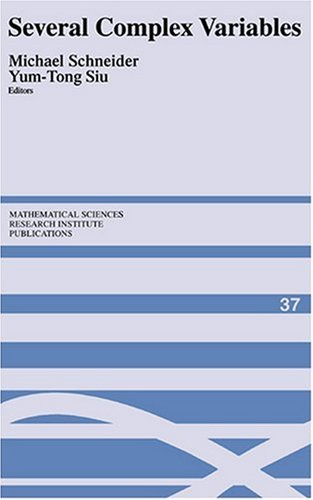 Large book cover: Several Complex Variables