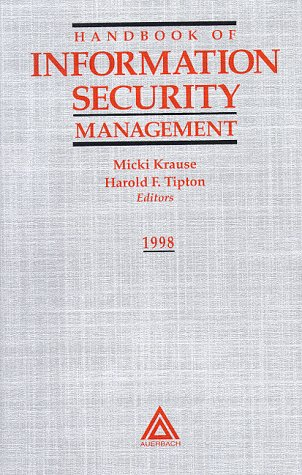 Large book cover: Handbook of Information Security Management