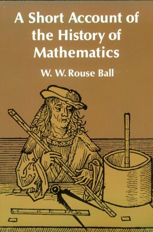 Large book cover: A Short Account of the History of Mathematics