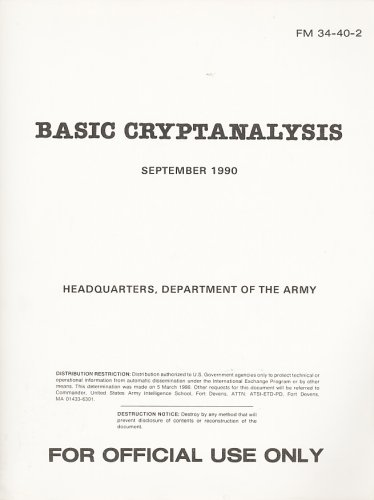 Large book cover: Basic Cryptanalysis