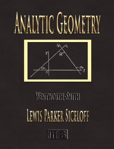 Large book cover: Analytic Geometry