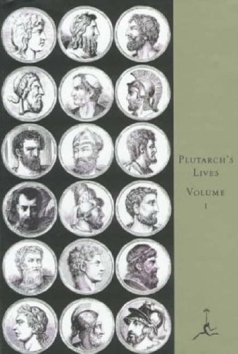 Large book cover: Lives of the Noble Grecians and Romans