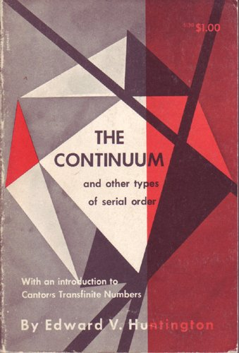 Large book cover: The Continuum and Other Types of Serial Order
