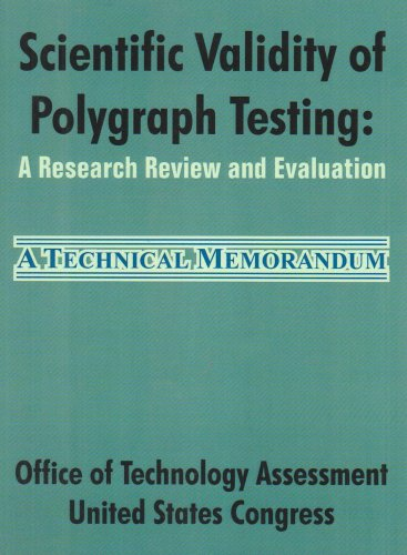 Large book cover: Scientific Validity of Polygraph Testing