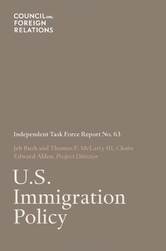 Large book cover: U.S. Immigration Policy