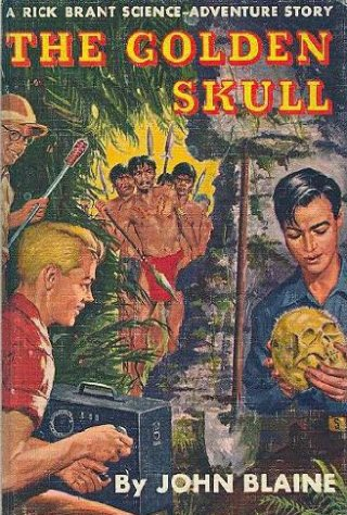Large book cover: The Golden Skull